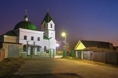 Gomel Vitryssland Kyrka av St Nicholas The Wonderworker In Lighting Arkivfoto