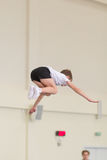 Gomel, Weißrussland - 12. November 2016: Sportwettbewerbe in der Akrobatik unter den Jungen und Mädchen im Jahre 2005-2006 gebore Lizenzfreie Stockfotografie