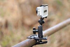 GOMEL, WEISSRUSSLAND - 12. April 2017: Actionfilm GoPro abgestimmt zum Schießen der Natur Lizenzfreies Stockfoto