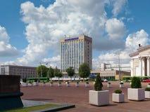 GOMEL, WEISSRUSSLAND - 15. MAI 2019: Lenin-Quadrat Theater und Post lizenzfreie stockfotografie