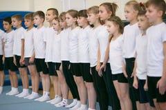 GOMEL, WEISSRUSSLAND - 25. November 2017: Freistilwettbewerbe unter jungen Männern und Frauen im Jahre 2005-2007 Im Programm, in  Stockbild