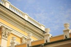 GOMEL, WIT-RUSLAND - 29 April 2017: Architecturale elementen van de bouw van het Rumyantsev-Paleis Royalty-vrije Stock Afbeeldingen