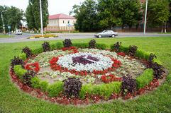 Gomel, Wit-Rusland, 12 AUGUSTUS, 2009: De kleine architecturale vorm op de straat Efremova Royalty-vrije Stock Foto's