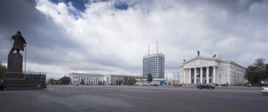 Gomel, Wit-Rusland in de herfstdaling royalty-vrije stock afbeeldingen