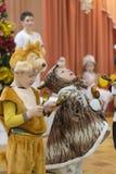 Gomel, Wit-Rusland - DECEMBER 22, 2016: Nieuwjaar` s vakantie voor kinderen in kleuterschool Kinderen 3 - 4 jaar Royalty-vrije Stock Fotografie