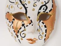 GOMEL, WIT-RUSLAND - FEBRUARI 18, 2019: Venetiaanse maskers van keramiek in miniatuur stock fotografie