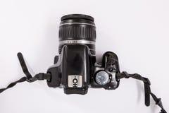 GOMEL, WIT-RUSLAND - 23 Maart 2017: Camera CANON 450d met een lensuitrusting 18-55 mm Royalty-vrije Stock Foto's