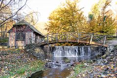 Gomez Mill in the Fall Stock Photos