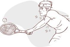 Gomito del tennista Fotografia Stock