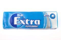 Gomma da masticare senza zucchero extra Fotografia Stock Libera da Diritti