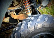 Gomma del veicolo a quattro ruote Fotografia Stock Libera da Diritti