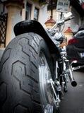 Gomma della ruota della motocicletta Immagini Stock