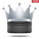 Gomma di gomma realistica con una corona d'argento Fotografie Stock