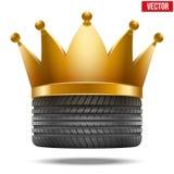 Gomma di gomma realistica con una corona dorata Fotografie Stock