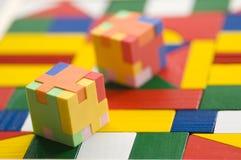Gomma di puzzle su priorità bassa variopinta Immagine Stock