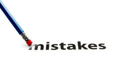 Gomma e concetto di errori Immagine Stock