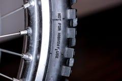 Gomma fronta del motociclo Fotografie Stock Libere da Diritti