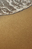 Gomma piuma del mare e della sabbia Fotografie Stock Libere da Diritti