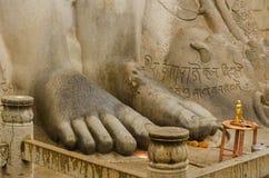 Gommateshvara Bahubali雕象  免版税库存图片