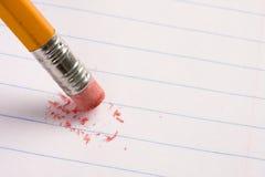 Gomme à effacer de crayon Image libre de droits
