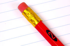 Gomme à effacer de crayon Photos stock