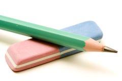 Gomme à effacer et crayon Photo stock