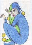 Gomme de crayon fine de Clows X illustration libre de droits