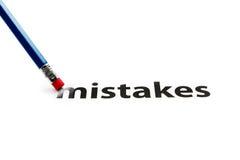Gomme et concept d'erreurs Image stock
