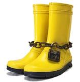 Gomme gialle con il lucchetto Fotografia Stock Libera da Diritti