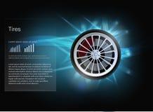 gomme Illustrazione di vettore Modello del infographics dell'automobile Stile di Hud illustrazione vettoriale