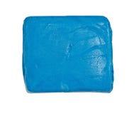 Gomme malaxée par bleu (le caoutchouc de mastic) Photographie stock libre de droits
