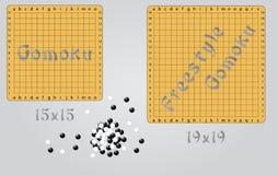 Gomoku and freestyle gomoku Stock Photo