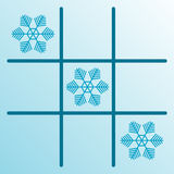 Gomoku snowflakes Royalty Free Stock Photos