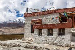 Gompa - θιβετιανός βουδιστικός ναός σε Ladakh, ο Βορράς Στοκ Φωτογραφία