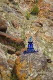 Gompa в индийских Гималаях стоковое изображение