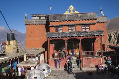 Gompa (Buddhist monastery) in Jharkot Royalty Free Stock Photo
