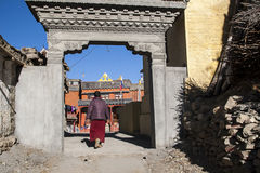 Gompa (Buddhist monastery) in Jharkot Stock Photo