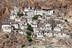 Gompa de Karsha - monasterio budista en el valle de Zanskar fotografía de archivo