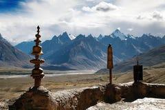 Gompa de Karsha - monasterio budista en el valle de Zanskar foto de archivo
