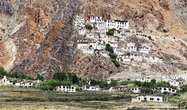 Gompa de Karsha - monasterio budista en el valle de Zanskar imagenes de archivo