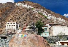 Gompa de Karsha - monasterio budista en el valle de Zanskar - Ladakh - la India fotos de archivo libres de regalías