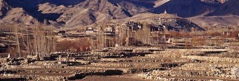 Gompa Dorf, Ladakh Stockbild