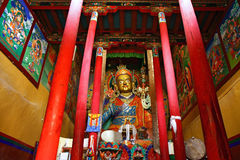 Gompa in himis monastery Royalty Free Stock Image