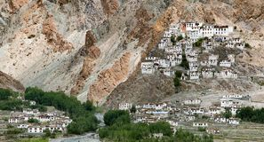 Gompa Karsha - βουδιστικό μοναστήρι στην κοιλάδα Zanskar Στοκ εικόνα με δικαίωμα ελεύθερης χρήσης