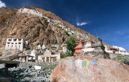 Gompa Karsha - βουδιστικό μοναστήρι στην κοιλάδα Zanskar - Ladakh - Ινδία Στοκ Εικόνες