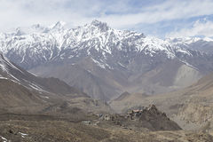Gompa or Monastry in Jharkot, Mustang district, Nepal Stock Photography
