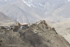 Gompa or Monastry in Jharkot, Mustang district, Nepal Royalty Free Stock Image