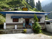 Gompa nel villaggio di Thoche, Nepal Immagini Stock Libere da Diritti