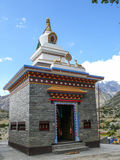 Gompa in Ngawal village, Nepal Stock Photo