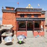 Gompa ou monastério em Kagbeni, circuito de Annapurna Fotografia de Stock Royalty Free